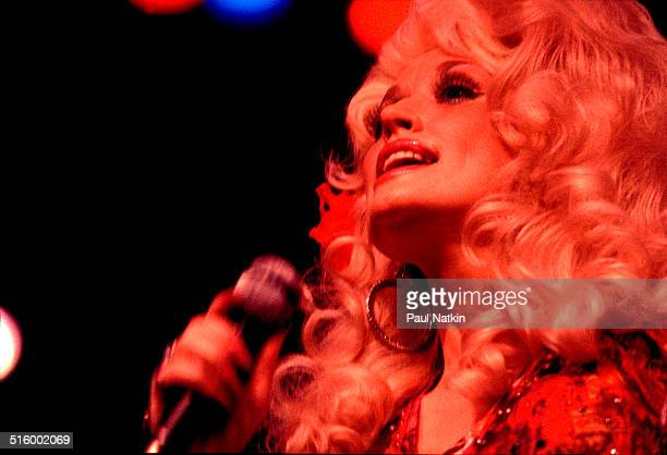 American musician Dolly Parton performs onstage at the Auditorium Theater Chicago Illinois July 16 1978