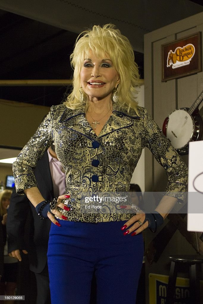 Dolly Parton attends 'An Evening With Dolly' Gold Celebration at Dolly Records/CTK Management on August 10 2012 in Nashville Tennessee