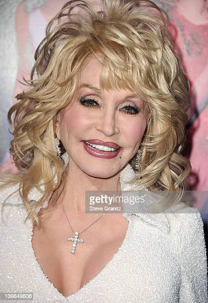 Dolly Parton attends the 'Joyful Noise' Los Angeles Premiere at Grauman's Chinese Theatre on January 9 2012 in Hollywood California