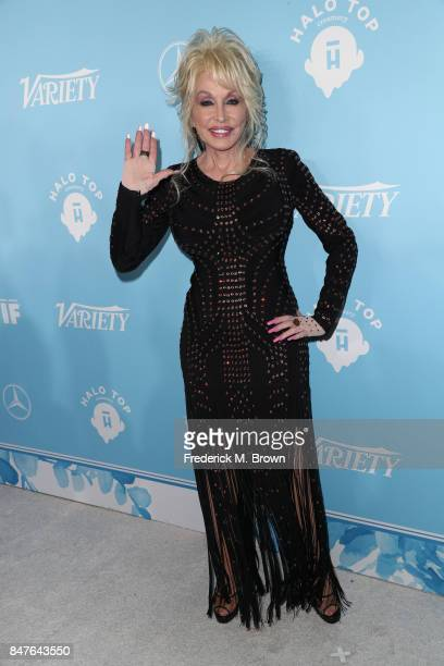 Dolly Parton attends the Variety and Women In Film's 2017 PreEmmy Celebration at Gracias Madre on September 15 2017 in West Hollywood California