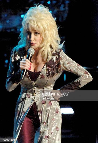 Dolly Parton during CMT Giants Honoring Reba McEntire Show at Kodak Theater in Hollywood California United States