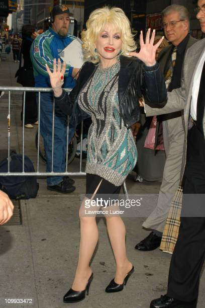 Dolly Parton during Dolly Parton Arrives At David Letterman at Ed Sullivan Theater in New York City New York United States