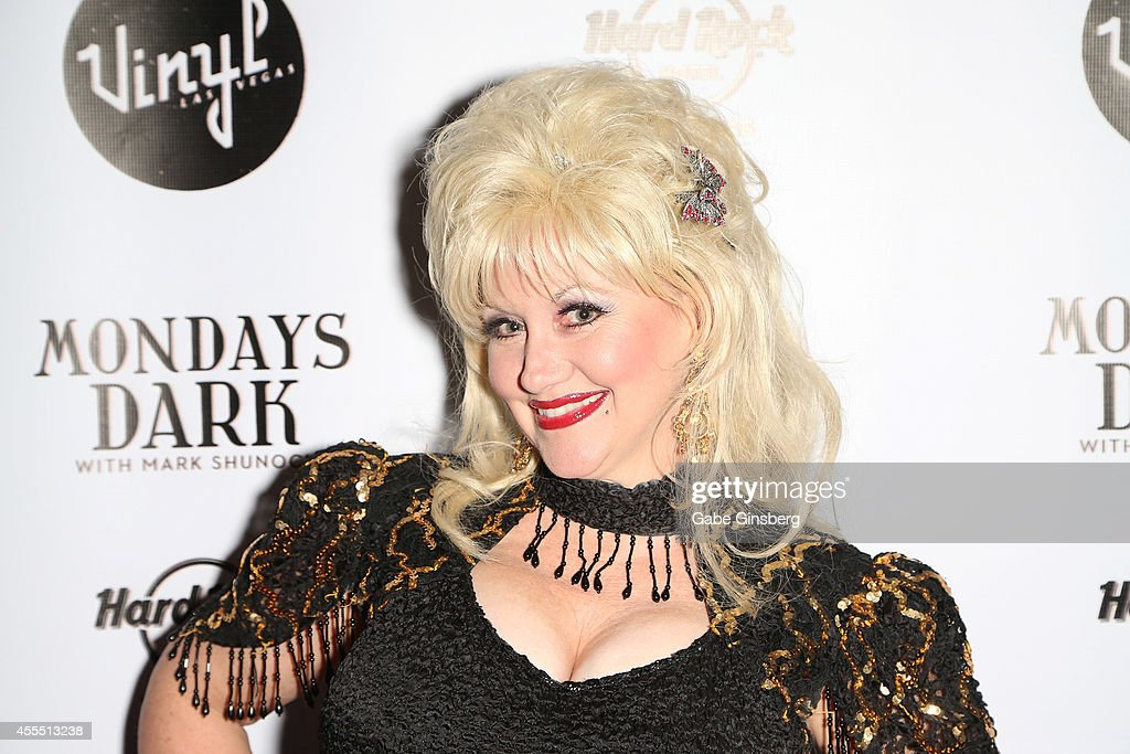 Dolly Parton impersonator Lori Legacy arrives at Mondays Dark Presents 'Gone Country' benefiting Douglas J Green Memorial Foundation at Vinyl inside...