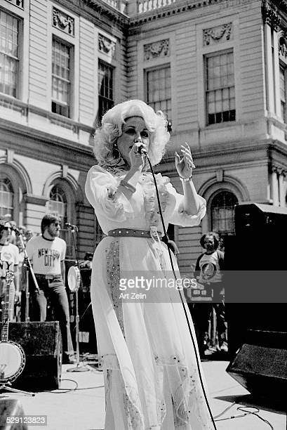 Dolly Parton in performance at City Hall circa 1970 New York