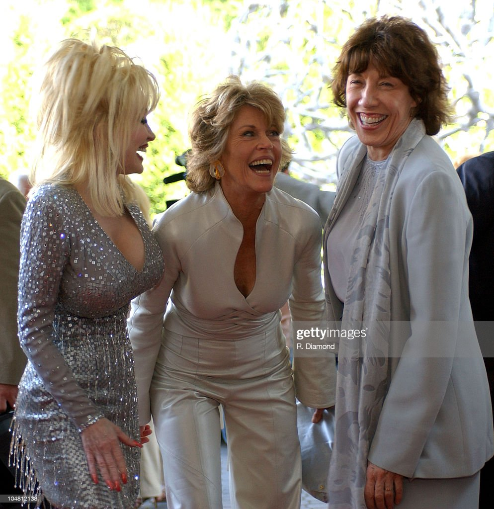 Dolly Parton Jane Fonda and Lily Tomlin during GCAPP'S 'The Retro Premier' of 9 to 5 Live Auction at Woodruff Arts Center in Atlanta Georgia United...