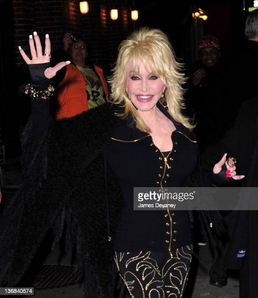 Dolly Parton leaves the 'Late Show wWth David Letterman' at Ed Sullivan Theater on January 11 2012 in New York City