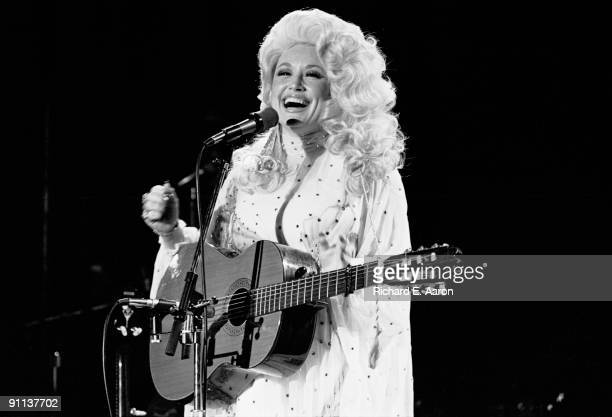Dolly Parton performing live on stage in New York in August 1978