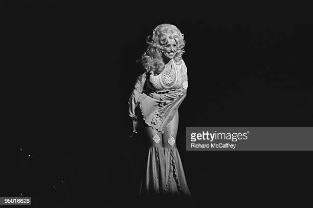 Dolly Parton performs live at The Paramount Theatre in 1977 in Oakland California