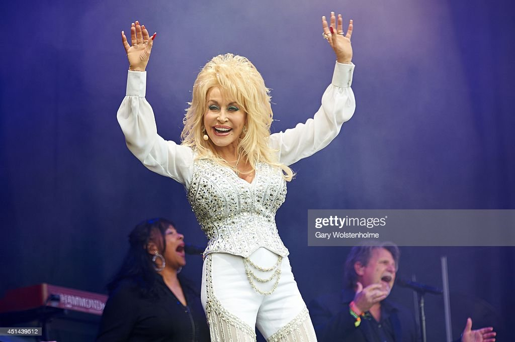 Dolly Parton performs on Day 3 of the Glastonbury Festival at Worthy Farm on June 29 2014 in Glastonbury England