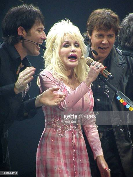 Dolly Parton performs on stage at the National Indoor Arena on July 2nd 2008 in Birmingham United Kingdom