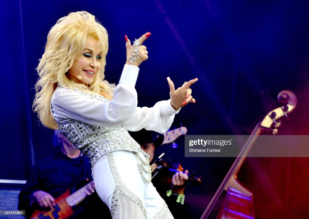 Dolly Parton performs on The Pyramid Stage on Day 3 of the Glastonbury Festival at Worthy Farm on June 29 2014 in Glastonbury England