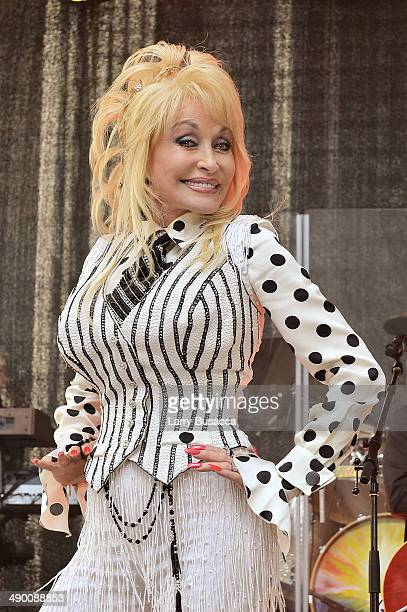 Dolly Parton promotes her new album 'Blue Smoke' at the Today Show on May 13 2014 in New York City