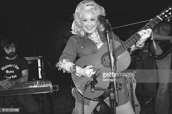 Dolly Parton rehearses for her New York nightclub debut at the West Village's Bottom Line