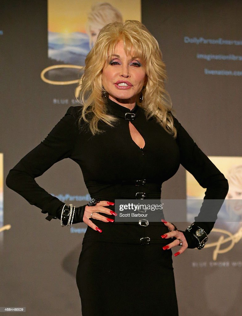 Dolly Parton speaks to the media during a press conference at Rod Laver Arena on February 11 2014 in Melbourne Australia