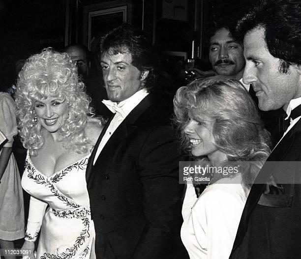 Dolly Parton Sylvester Stallone wife Sasha Stallone and Frank Stallone