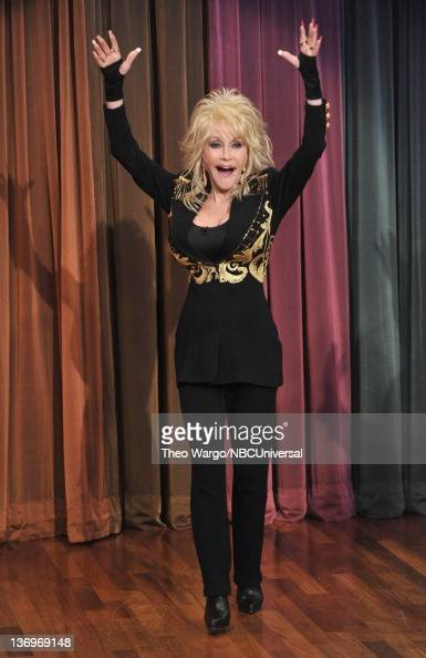 Dolly Parton visits 'Late Night With Jimmy Fallon' at Rockefeller Center on January 13 2012 in New York City