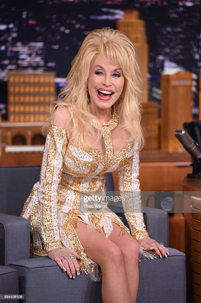 Dolly Parton Visits 'The Tonight Show Starring Jimmy Fallon' at Rockefeller Center on August 23, 2016 in New York City.