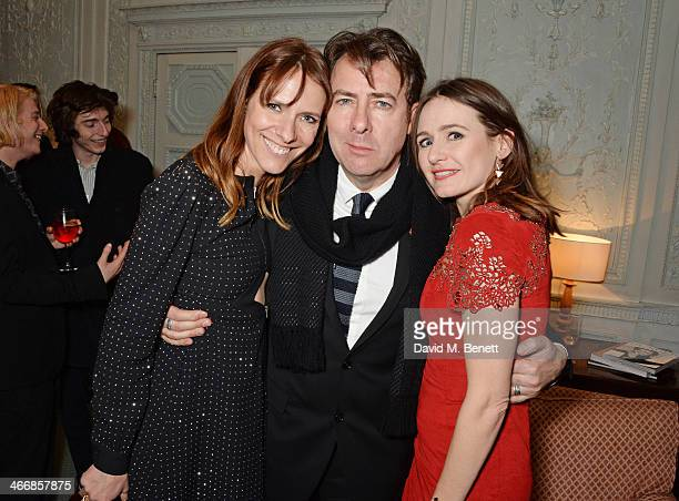 Dolly Wells Jonathan Ross and Emily Mortimer attend the InStyle Best of British Talent party in celebration of BAFTA in association with Lancome and...