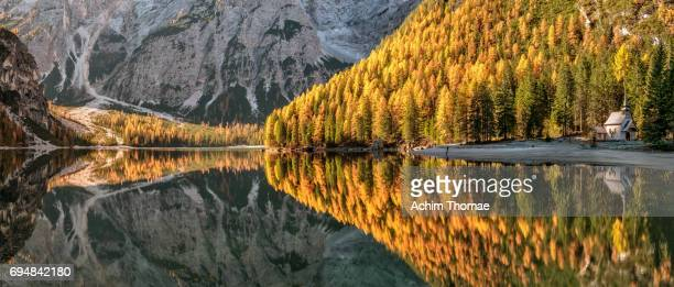 Dolomite Alps, Pragser Wildsee, South Tyrol, Italy, Europe