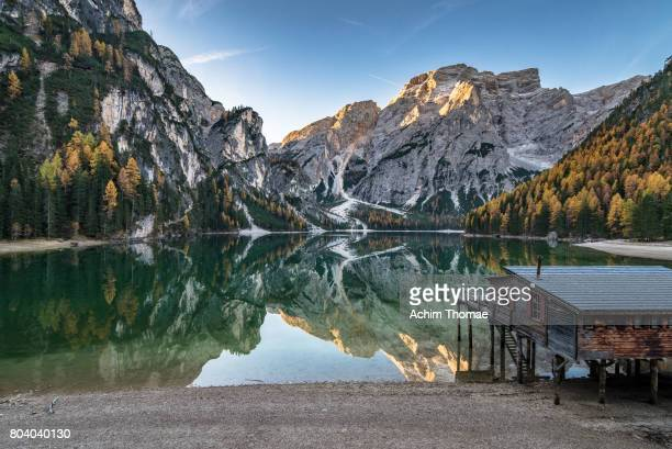 Dolomite Alps, Pragser Wildsee, South Tyrol, Italy, Europe