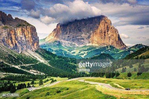 Dolomite peaks (South Tyrol, Italy).
