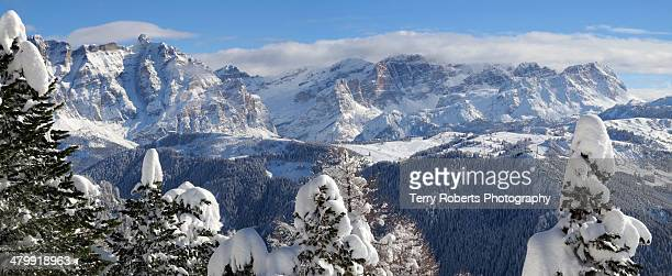 Dolomites in the snow
