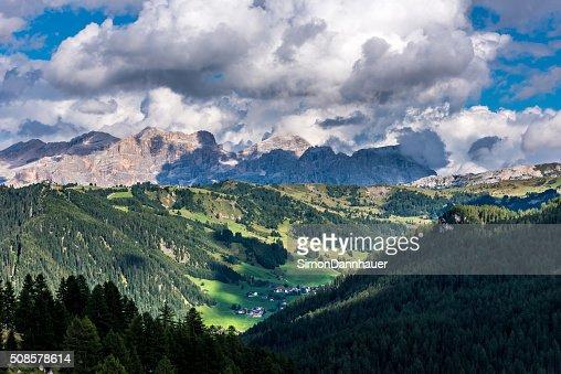 Dolomites Italy - Mountains of Passo Sella : Bildbanksbilder