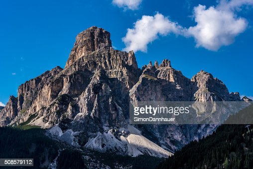 Dolomites Italy - Mountains of Passo Sella : Stock Photo