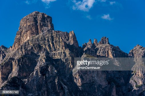 Dolomites Italy - Mountains of Passo Sella : Stockfoto