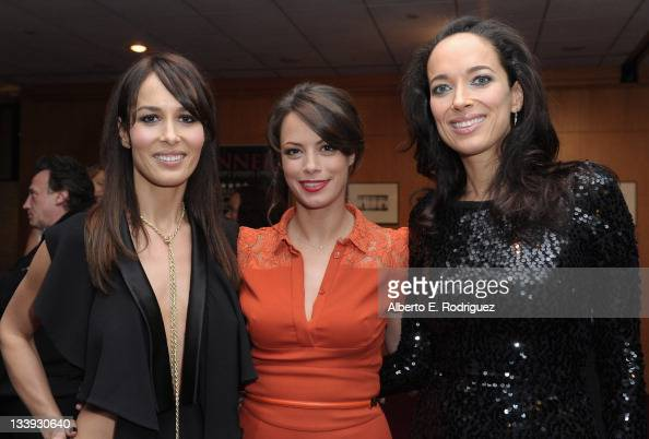 Dolores Chaplin actress Berenice Bejo and Carmen Chaplin attend the after party for a special screening of The Weinstein Company's 'The Artist' at...