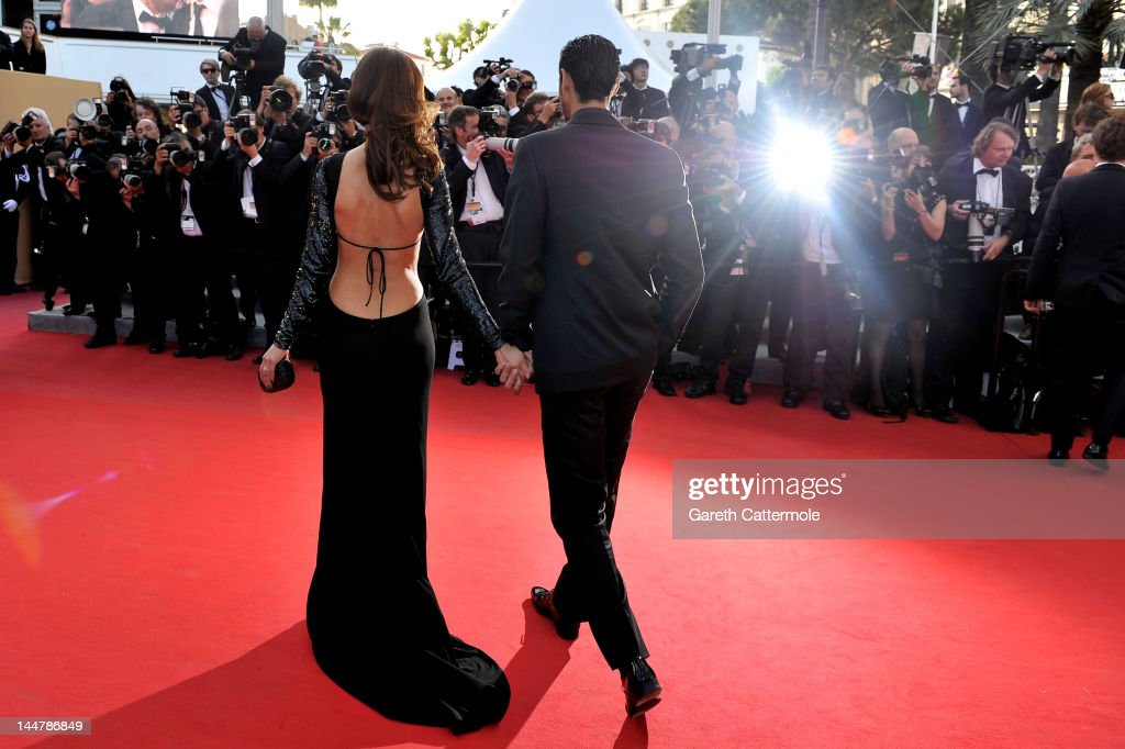 Dolores Chaplin and guest attend the 'Lawless' Premiere during the 65th Annual Cannes Film Festival at Palais des Festivals on May 19 2012 in Cannes...