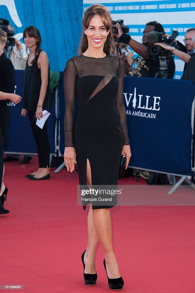 Dolores Chaplin arrives at the closing ceremony of the 38th Deauville American Film Festival on September 8, 2012 in Deauville, France.