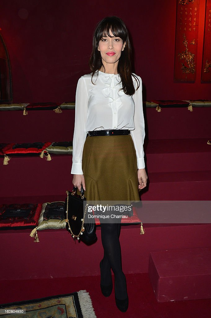 Dolores Chaplin attends the H&M Fashion Show Fall/Winter 2013 Ready-to-Wear show as part of Paris Fashion Week on February 27, 2013 in Paris, France.