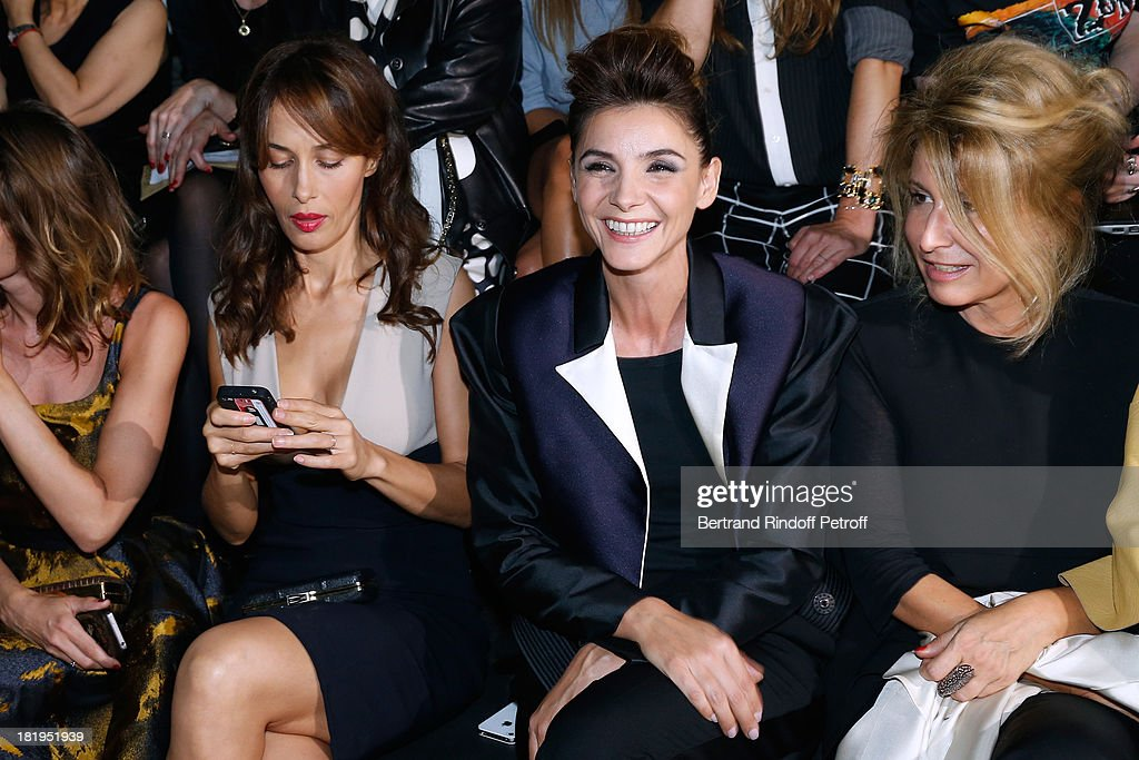 Dolores Chaplin, Princess of Savoy, Clotilde Courau and Anne-Florence Schmitt attend Lanvin show as part of the Paris Fashion Week Womenswear Spring/Summer 2014, held at 'Ecole des beaux Arts' on September 26, 2013 in Paris, France.