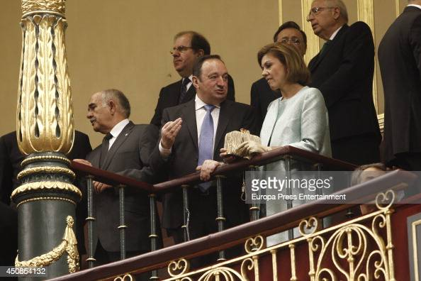 Dolores de Cospedal attends Spanish Parliament on June 19 2014 in Madrid Spain