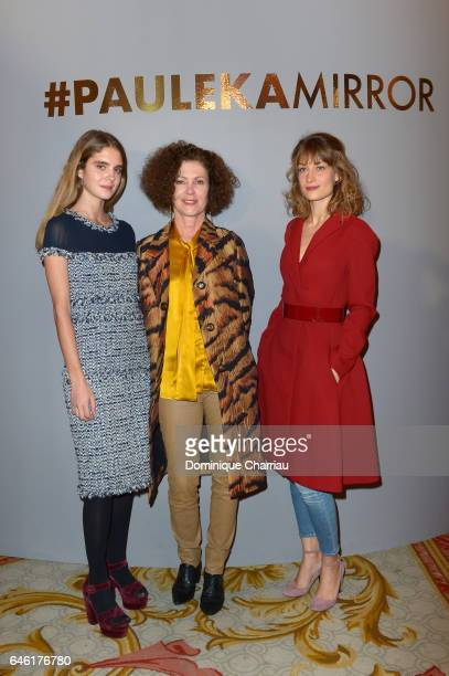 Dolores Doll a guest and Mathilde Moulinat attend the Paule Ka Presentation as part of the Paris Fashion Week Womenswear Fall/Winter 2017/2018 at...