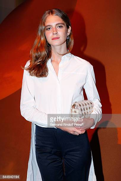 Dolores Doll attends the 'Cactus de Cartier' Jewellery Creations at Palais De Tokyo on July 2 2016 in Paris France