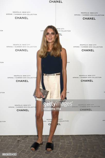 Dolores Doll attends the launch of Lucia Pica's Chanel SpringSummer 2018 Make up Collection on October 12 2017 in Naples Italy