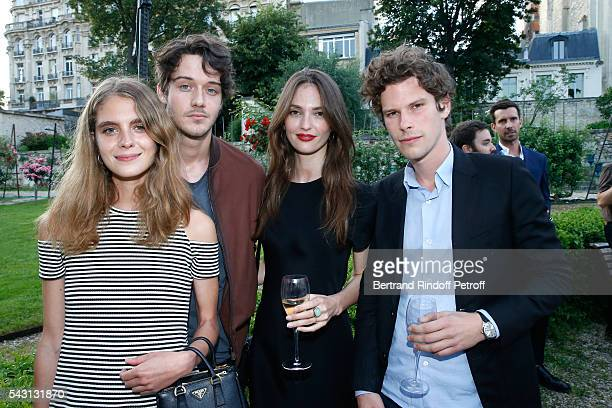 Dolores Doll guest Annabelle Waters Belmondo and Actor JeanBaptiste Lafarge attend the Berluti Menswear Spring/Summer 2017 show as part of Paris...