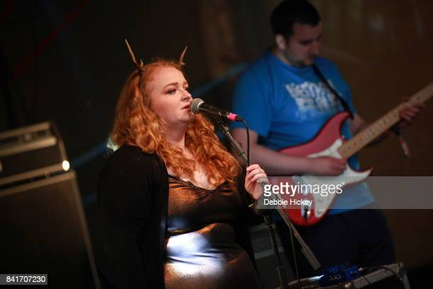 Dolores Fogarty and Adrian Mee of Telephone Explosions performs at Electric Picnic Festival at Stradbally Hall Estate on September 1 2017 in Laois...