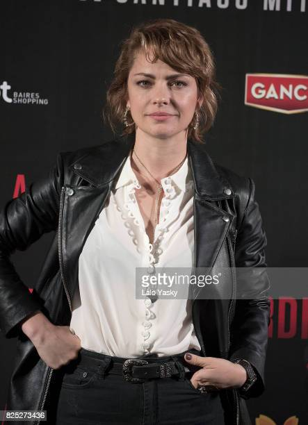Dolores Fonzi attends a press conference for 'La Cordillera' at Abasto Hoyts Cinemas on August 1 2017 in Buenos Aires Argentina