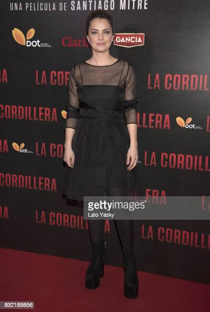 Dolores Fonzi attends the premiere of 'La Cordillera' at the Hoyts Shopping Dot cinema on August 15 2017 in Buenos Aires Argentina
