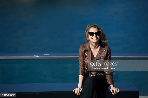 Dolores Fonzi attends 'Truman' photocall during 63rd San Sebastian International Film Festival at Aquarium of San Sebastian on September 19 2015 in...