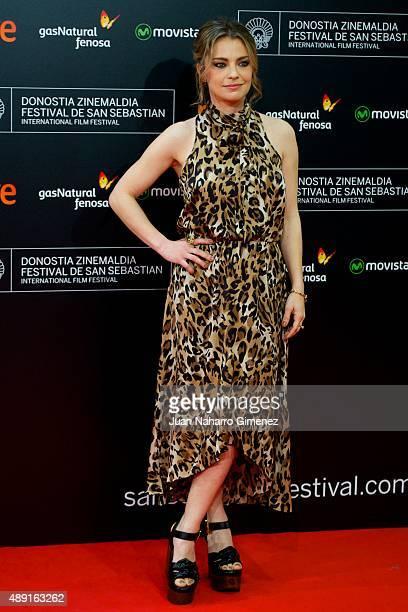 Dolores Fonzi attends 'Truman' premiere during 63rd San Sebastian Film Festival at Kursaal on September 19 2015 in San Sebastian Spain
