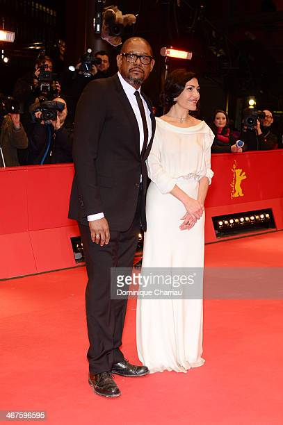 Dolores Heredia and Forest Whitaker attend the 'Two Men in Town' photocall during 64th Berlinale International Film Festival at Grand Hyatt Hotel on...