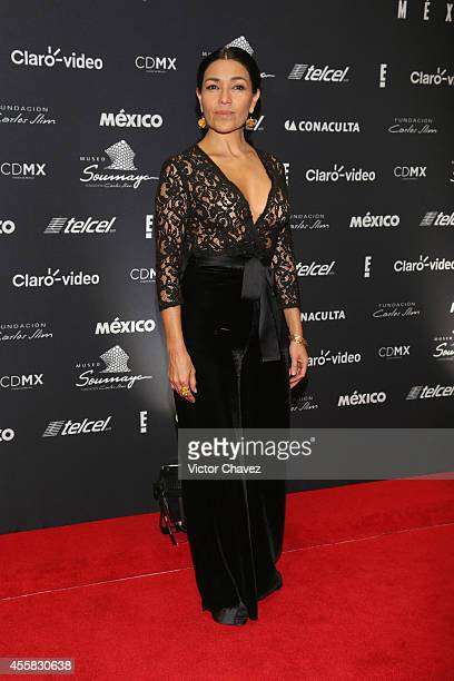 Dolores Heredia attends the Sophia Loren's 80th birthday dinner at Museo Soumaya on September 20 2014 in Mexico City Mexico
