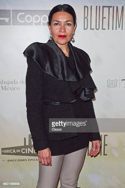 Dolores Heredia poses for pictures during the red carpet of the mexican movie Milagro en Praga at Cinepolis Diana on December 09 2014 in Mexico City...