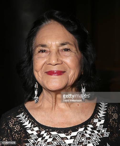 Dolores Huerta attends the 10th Annual Global Women's Rights Awards at Pacific Design Center on May 18 2015 in West Hollywood California