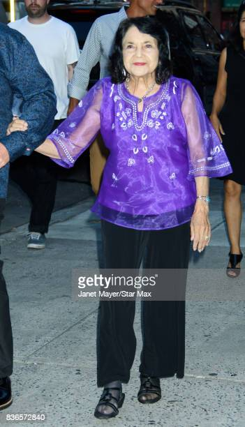Dolores Huerta is seen on August 21 2017 in New York City