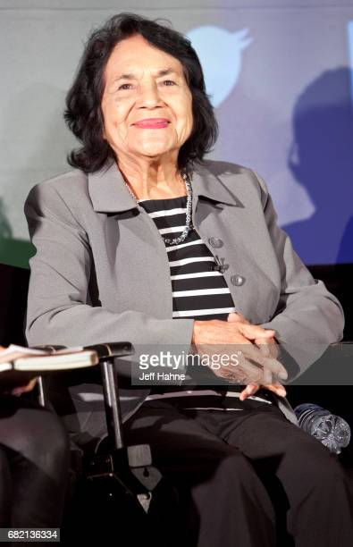 Dolores Huerta participates in a panel at The Harvey B Gantt Center for African American Arts Culture on May 11 2017 in Charlotte North Carolina